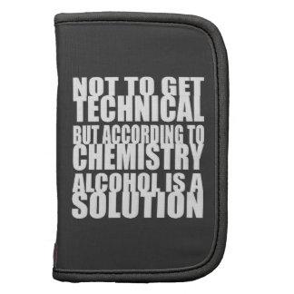 Según química, el alcohol es una solución planificador