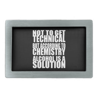 Según química, el alcohol es una solución hebillas cinturon rectangulares