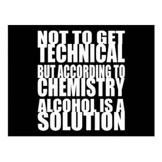 Según química, el alcohol es una solución tarjetas postales