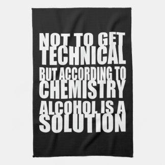 Según química, el alcohol es una solución toalla de mano