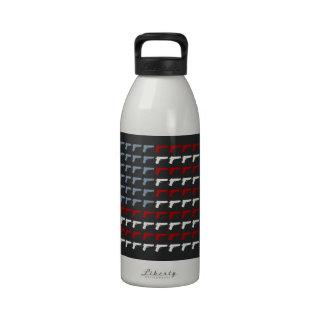 Segunda bandera de la enmienda botellas de agua reutilizables