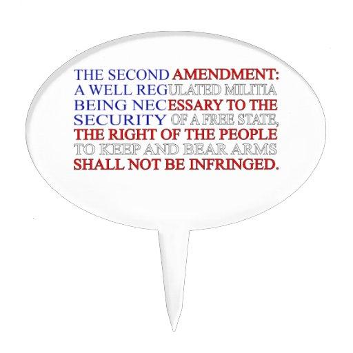 Segunda bandera de la enmienda figuras para tartas