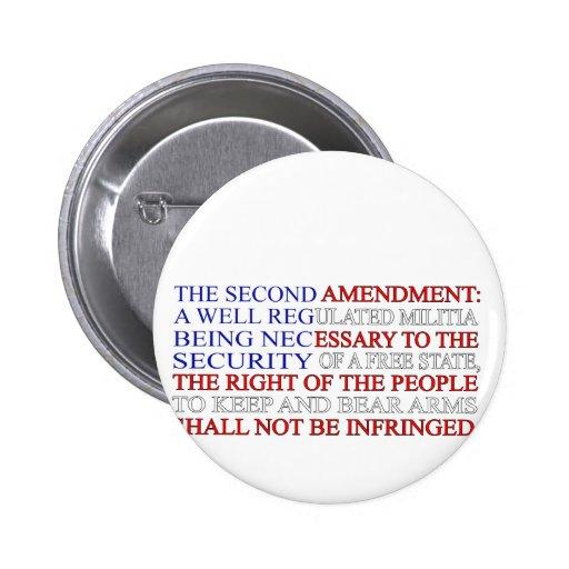 Segunda bandera de la enmienda pin