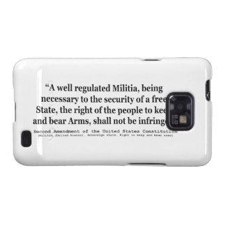 Segunda enmienda a la constitución de Estados Samsung Galaxy SII Fundas