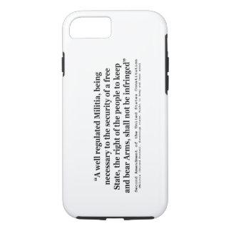 Segunda enmienda a la constitución de Estados Funda iPhone 7