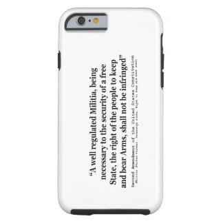 Segunda enmienda a la constitución de Estados Funda Para iPhone 6 Tough