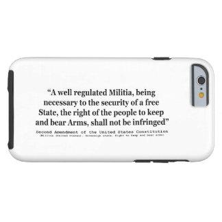 Segunda enmienda a la constitución de Estados Funda Resistente iPhone 6