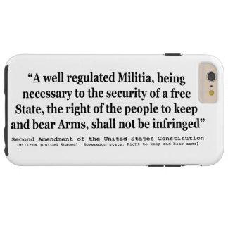 Segunda enmienda a la constitución de Estados Funda Resistente iPhone 6 Plus