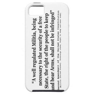 Segunda enmienda a la constitución de Estados iPhone 5 Carcasa