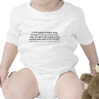 Segunda enmienda a la constitución de Estados Traje De Bebé