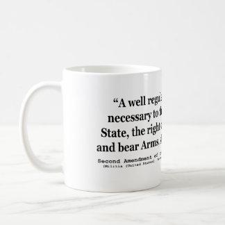 Segunda enmienda a la constitución de Estados Unid Taza De Café