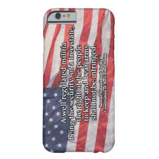 Segunda enmienda a la constitución de los E.E.U.U. Funda Barely There iPhone 6