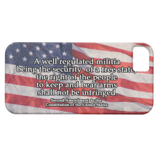 Segunda enmienda a la constitución de los E.E.U.U. Funda Para iPhone SE/5/5s
