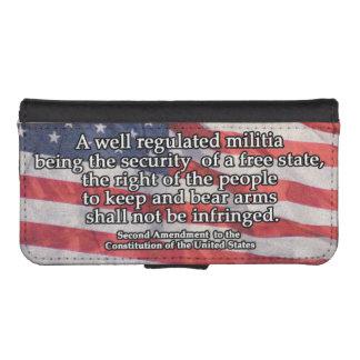 Segunda enmienda a la constitución de los E.E.U.U. Funda Tipo Cartera Para iPhone 5