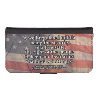 Segunda enmienda a la constitución de los E.E.U.U. Cartera Para iPhone 5