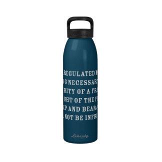 Segunda enmienda botellas de agua reutilizables