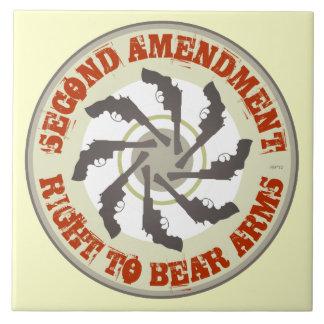 Segunda enmienda azulejo cuadrado grande