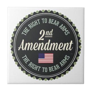 Segunda enmienda azulejo cuadrado pequeño