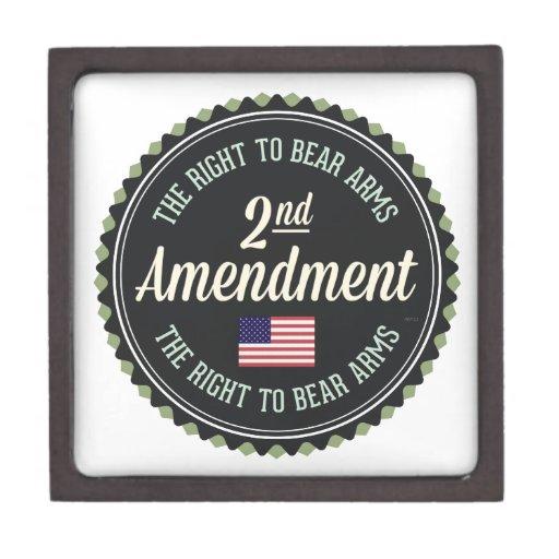 Segunda enmienda caja de regalo de calidad