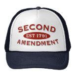 Segunda enmienda Est. 1791 Gorras