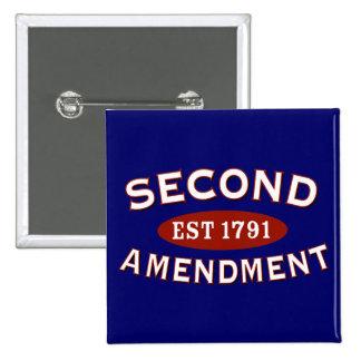 Segunda enmienda Est. 1791 Pins