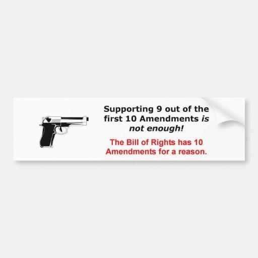 Segunda enmienda etiqueta de parachoque
