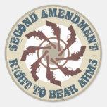Segunda enmienda etiqueta redonda
