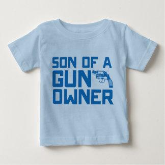 Segunda enmienda: Hijo de un dueño de arma Playera Para Bebé