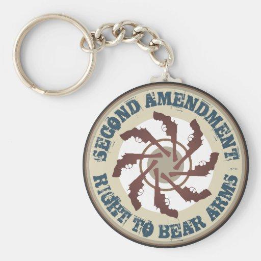 Segunda enmienda llavero personalizado