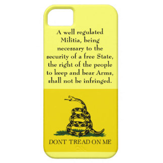 Segunda enmienda - no pise en mí iPhone 5 carcasa