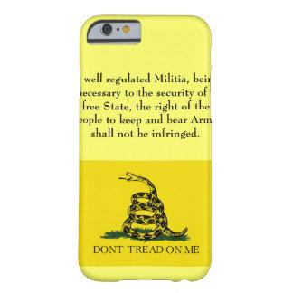 Segunda enmienda - no pise en mí funda de iPhone 6 barely there