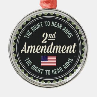 Segunda enmienda ornamento de navidad