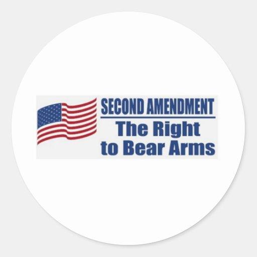 Segunda enmienda pegatinas redondas