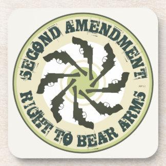 Segunda enmienda posavasos de bebidas