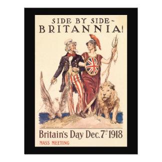 """Segunda Guerra Mundial de Britannia Folleto 8.5"""" X 11"""""""