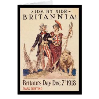 Segunda Guerra Mundial de Britannia Tarjeta De Felicitación