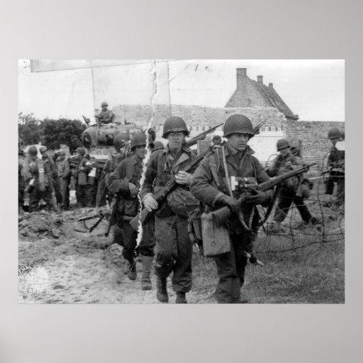 Segunda Guerra Mundial de Francia de las tropas de Posters