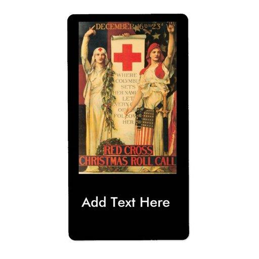 Segunda Guerra Mundial de la lista del navidad Etiquetas De Envío