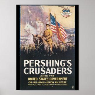 Segunda Guerra Mundial de los cruzados de Pershing Póster