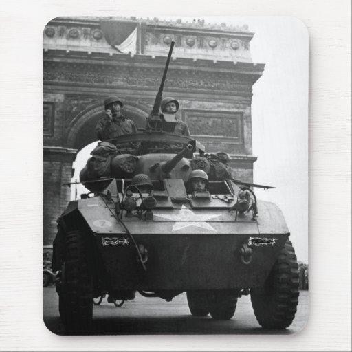 Segunda Guerra Mundial del coche de explorador aco Tapetes De Raton