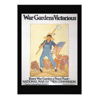 Segunda Guerra Mundial del jardín de la guerra Invitación Personalizada