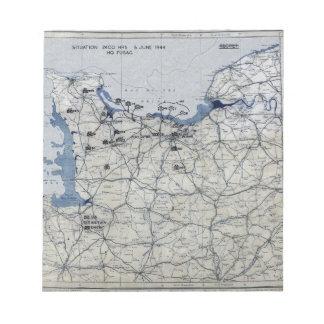 Segunda Guerra Mundial día D mapa 6 de junio de 19 Bloc De Papel