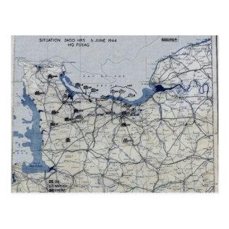 Segunda Guerra Mundial día D mapa 6 de junio de 19 Postales