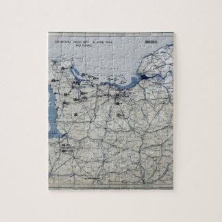 Segunda Guerra Mundial día D mapa 6 de junio de 19 Puzzle