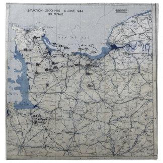 Segunda Guerra Mundial día D mapa 6 de junio de 19 Servilletas De Papel