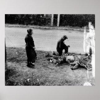 Segunda Guerra Mundial muerta americana de Carenta Póster