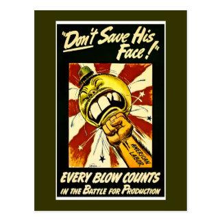 Segunda Guerra Mundial - vintage - trabajo del ame Postal