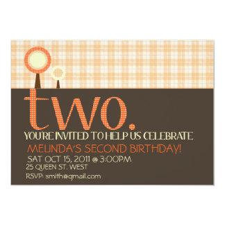Segunda invitación simple dulce del cumpleaños
