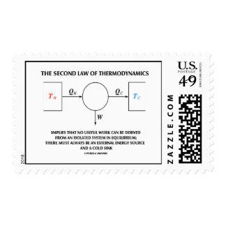 Segunda ley de la termodinámica ningún equilibrio sello