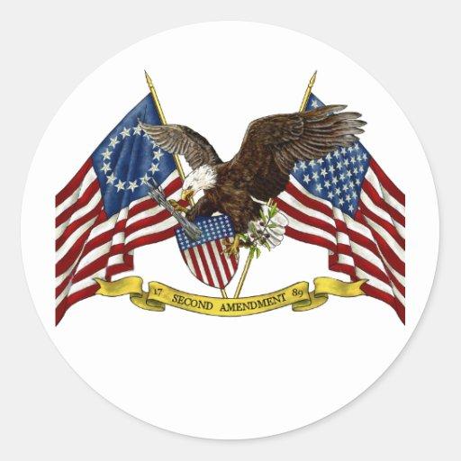 Segunda libertad Eagle de la enmienda Etiquetas